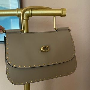 Coach Bags - Coach Leather Studded Handbag with Strap